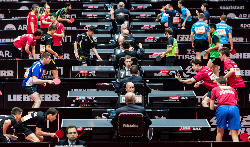 Doubles main draw action begins at World Table Tennis Championships