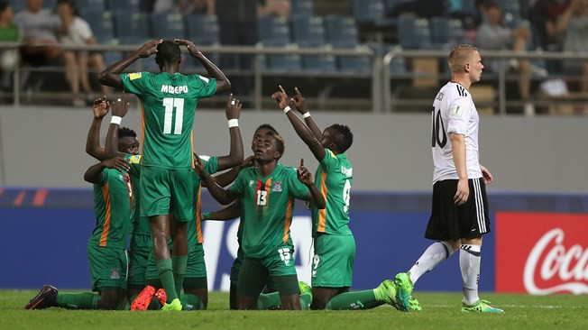 Mayembe fires extra-time winner as Zambia stun Germany at FIFA Under-20 World Cup
