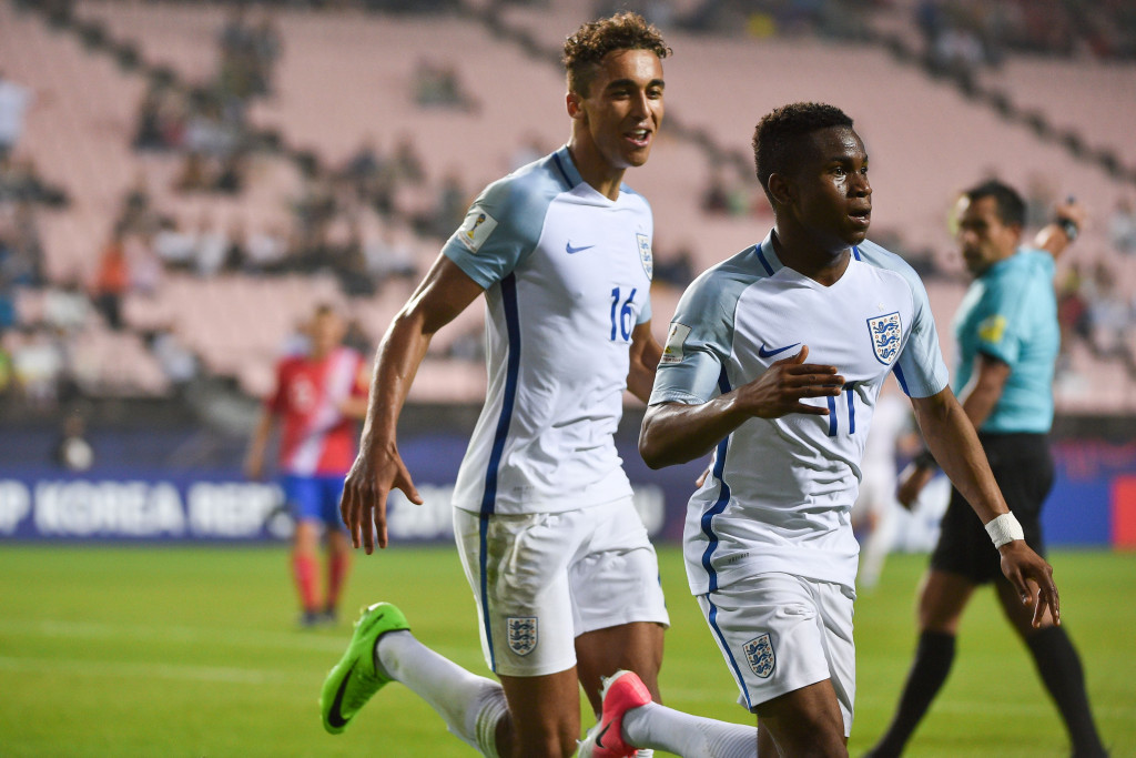 Ademola Lookman's double gave England a 2-1 win over Costa Rica ©Getty Images