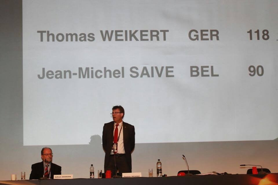 Weikert elected President of International Table Tennis Federation