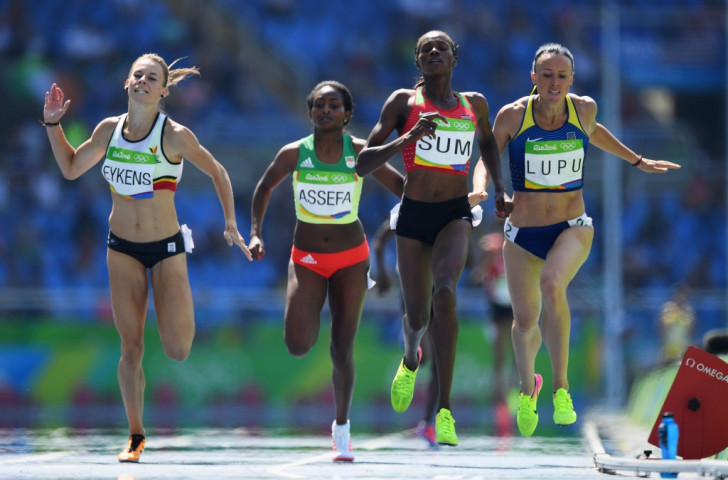 Ukraine's 800m runner Nataliia Lupu, pictured right in the heats at the Rio 2016 Olympics, has been banned for eight years following a second doping offence ©Getty Images