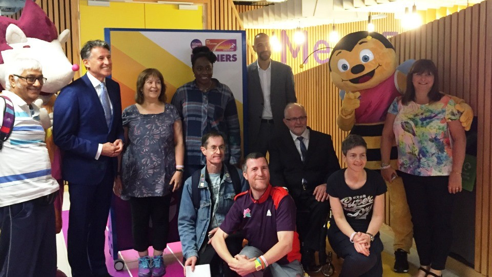 IAAF President Sebastian Coe and IPC counterpart Sir Philip Craven were among those in attendance today at the launch of the London 2017 Volunteer Training Centre ©Loughborough University