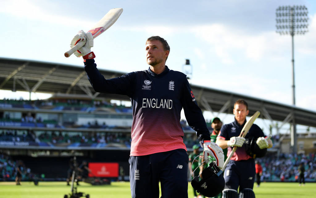 Root century sees England start ICC Champions Trophy with easy win