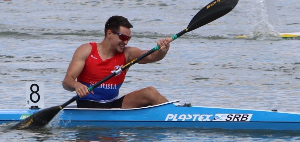 Arsen Arsenovic was among the winners on home water today ©CanoeKayak Serbia