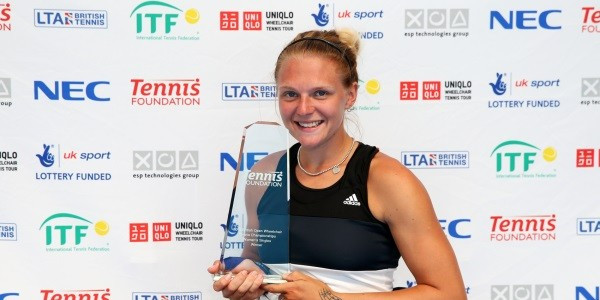 Jordanne Whiley hopes victory at the British Open Wheelchair Tennis Championships will help her bid for a Paralympic gold medal at Rio 2016 ©LTA