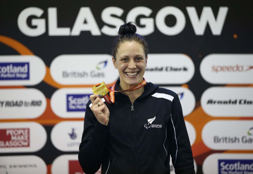 Sophie Pascoe of New Zealand retained her S10 100m freestyle crown in thrilling fashion with a narrow victory over Canada's Aurelie Rivard