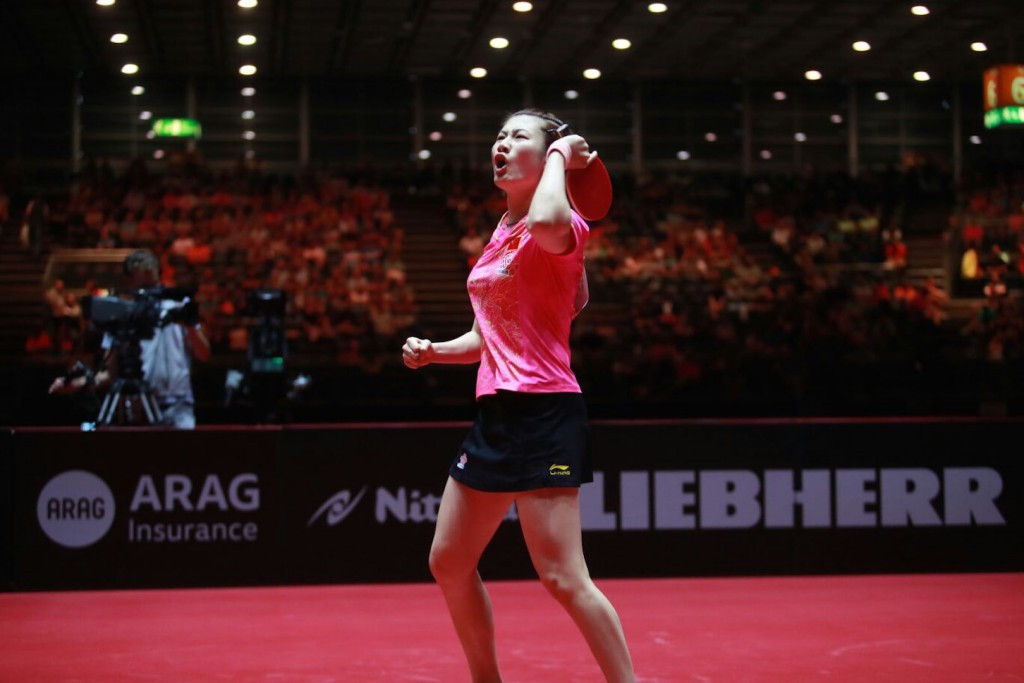 Ding Ning was in dominant form today against Miu Hirano ©ITTF