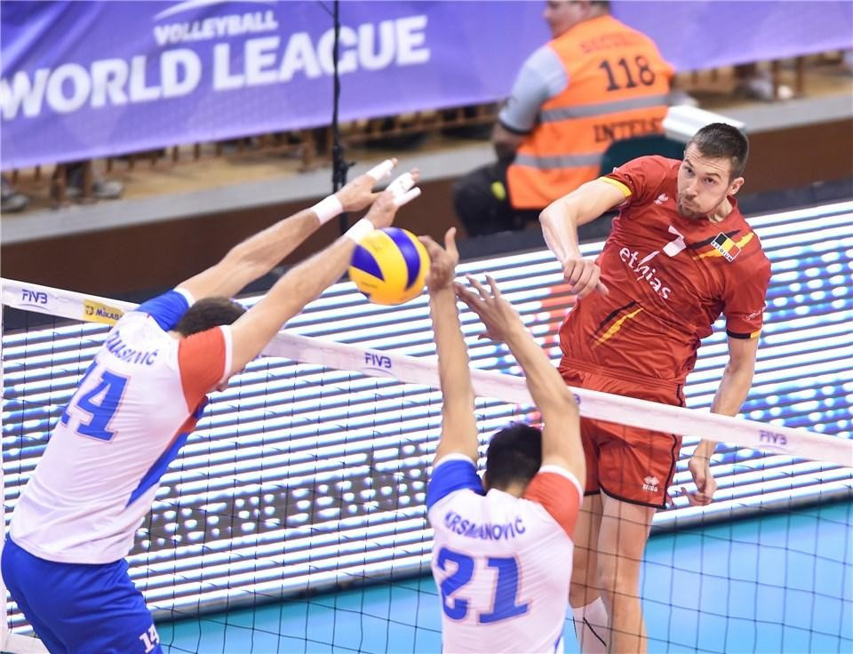 Belgium stun holders Serbia in FIVB World League