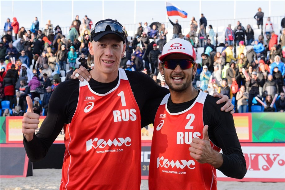 Russian duo through to final at home FIVB Beach World Tour event in Moscow