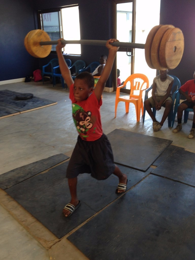 Weightlifting is a sport on the rise among Ghana's youth ©Brian Oliver