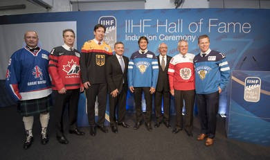 Hall of Fame jerseys have been put up to auction for charity ©IIHF