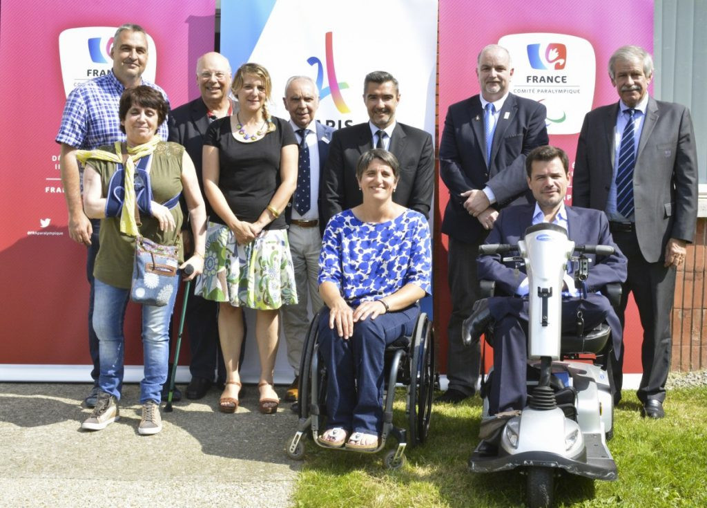 Emmanuelle Assmann, bottom centre, has been re-elected President of the French Paralympic and Sports Committee ©CPSF
