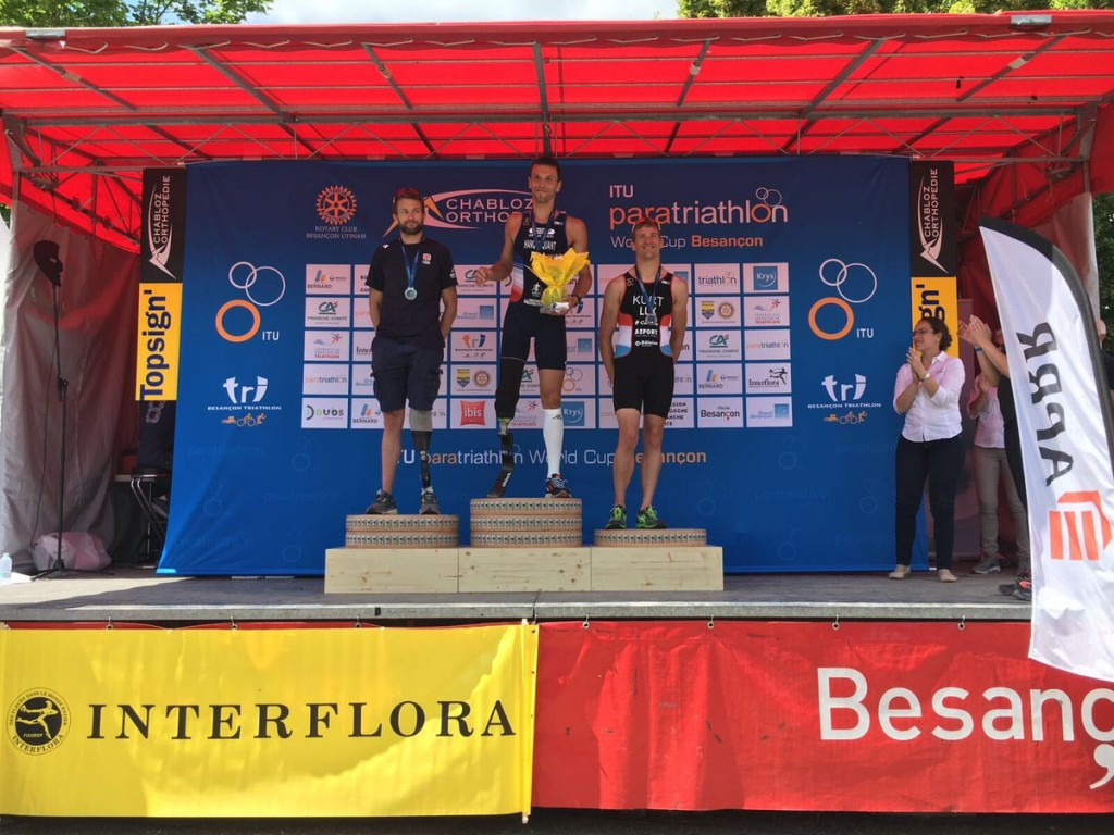 World champion among home winners at French leg of World Paratriathlon Series