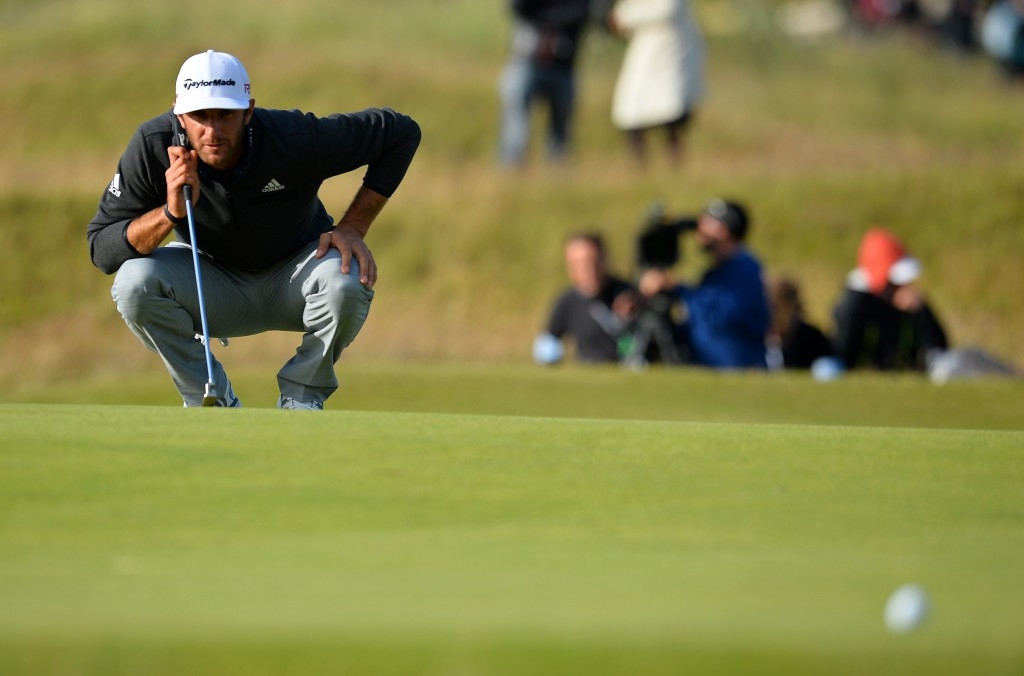 Dustin Johnson has a one-shot lead heading into the third round of The Open ©Getty Images
