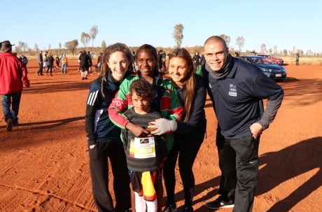 Australian Olympians have given their support to the Indigenous Marathon Foundation by taking part in the Deadly Fun Run Championships ©AOC