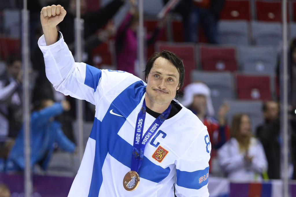 Teemu Selanne won four Winter Olympic medals during his career, including a bronze at Sochi 2014 with Finland ©Getty Images