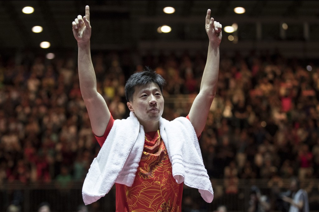 Ma Long won a sensational men's singles final against Fan Zhendong today ©Getty Images