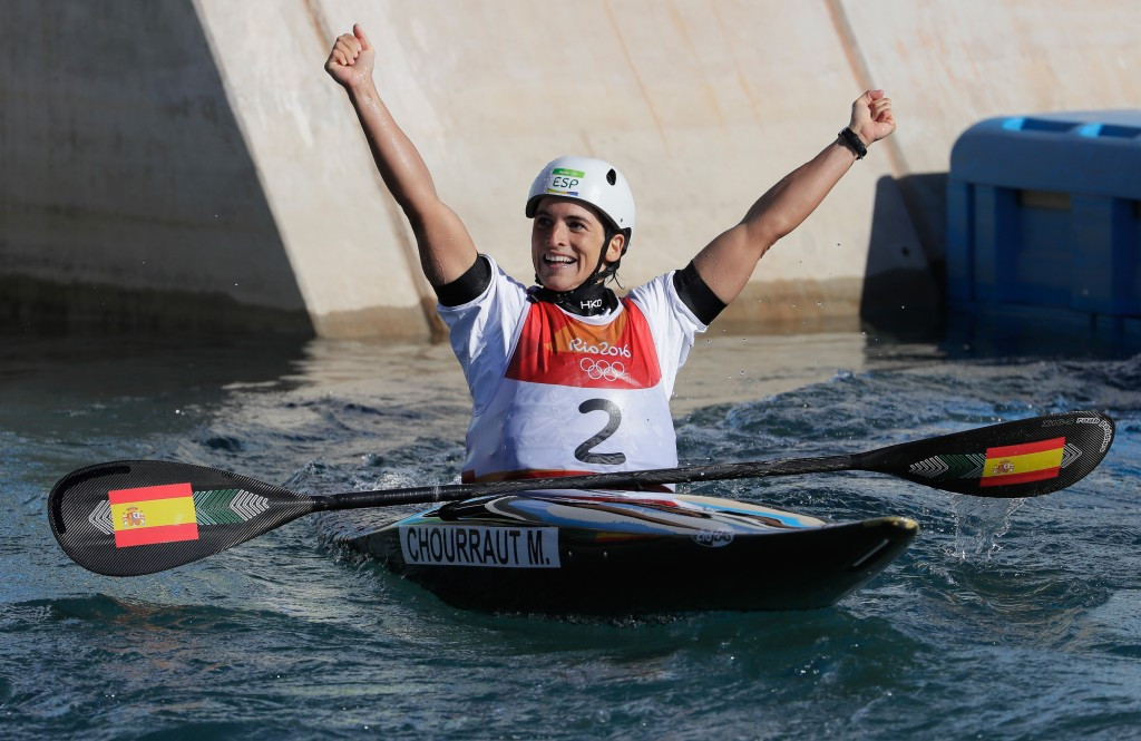 Maialen Chourraut won one of three Spanish canoeing gold medals at Rio 2016 ©Getty Images