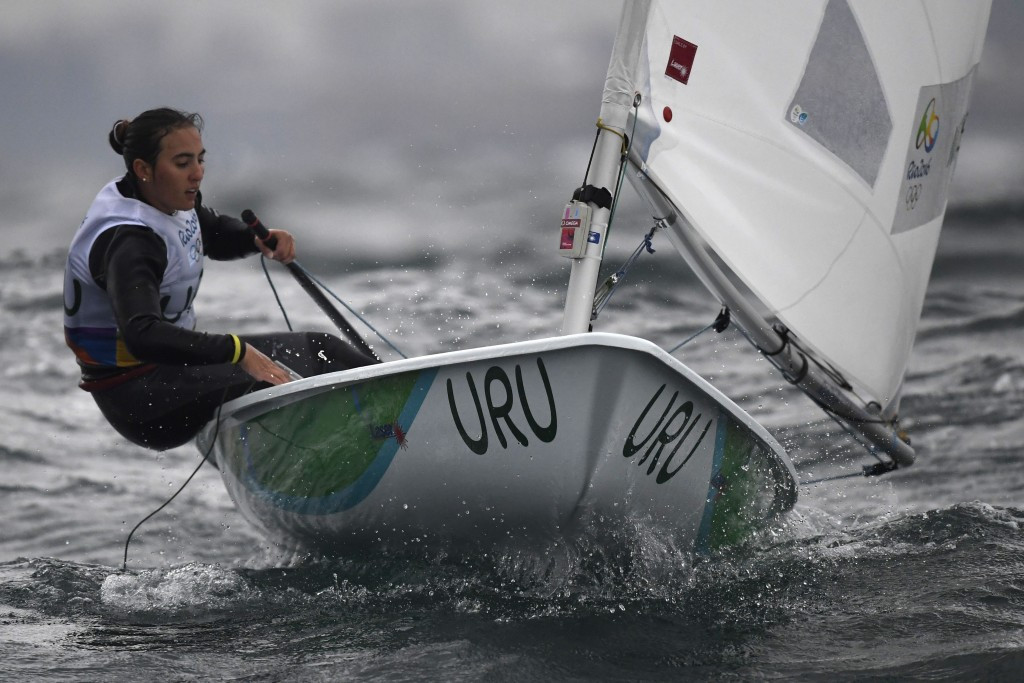Uruguay's Dolores Moreira tops the laser radial leaderboard ©Getty Images