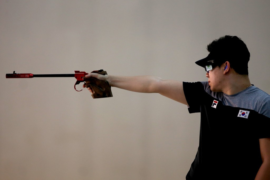 The 50m pistol event, won by Jin Jong-oh at Rio 2016, is one event set to be replaced ©Getty Images