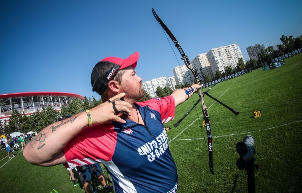 Olympic bronze medallist Ellison tops qualification round at Archery World Cup