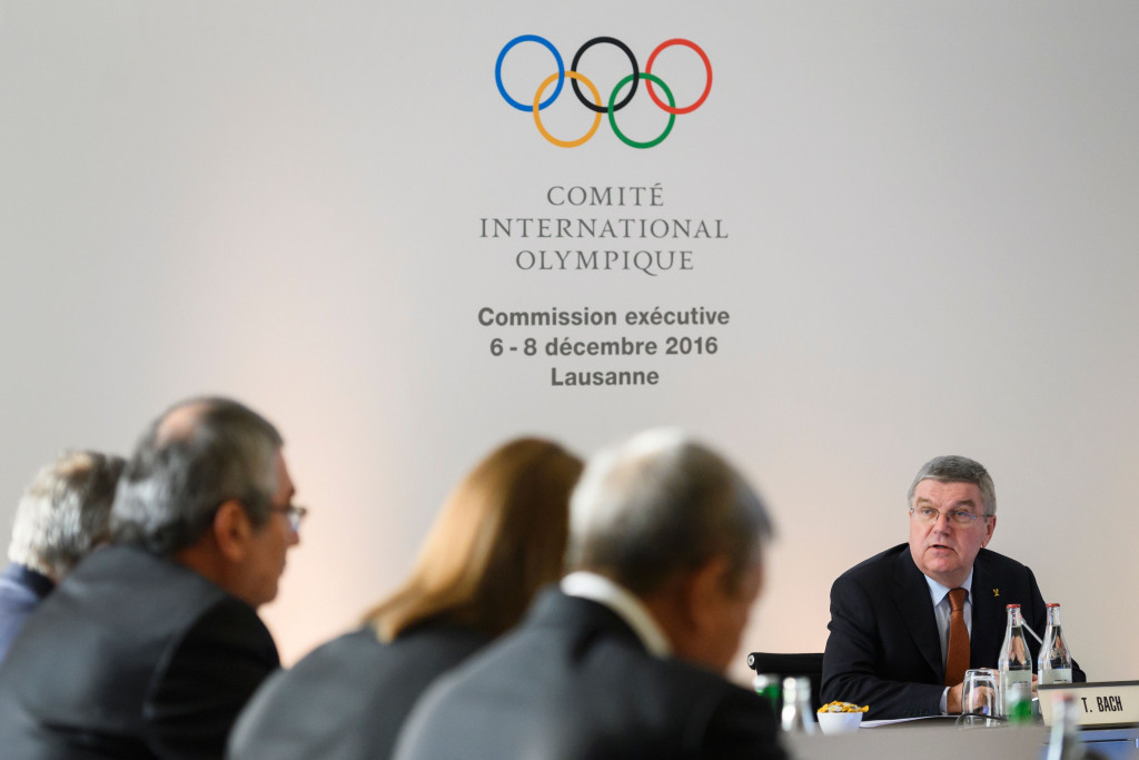 Casey Wasserman's announcement comes two days before the IOC Executive Board led by President Thomas Bach is expected to approve joint awarding plans for 2024 and 2028 ©Getty Images