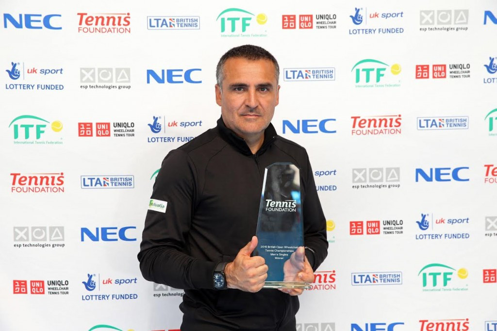 Houdet comes from behind to win first British Open Wheelchair Tennis singles title