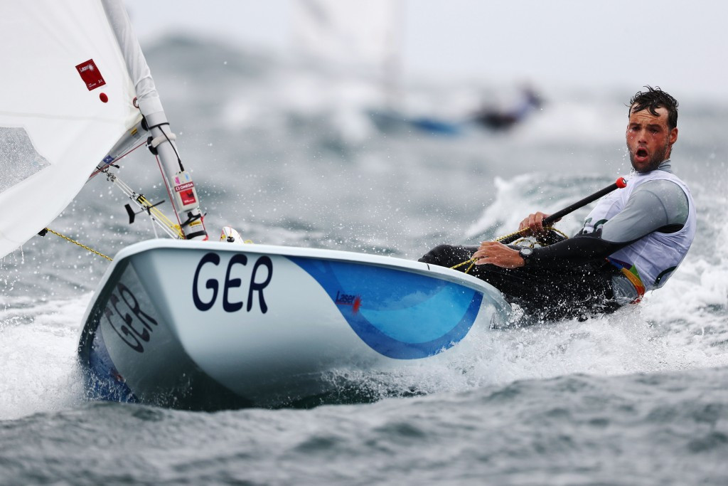 Philipp Buhl moved into contention in the men's laser event today ©Getty Images