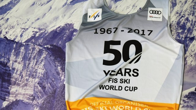 FIS present anniversary bibs to mark 50 years of Alpine World Cup