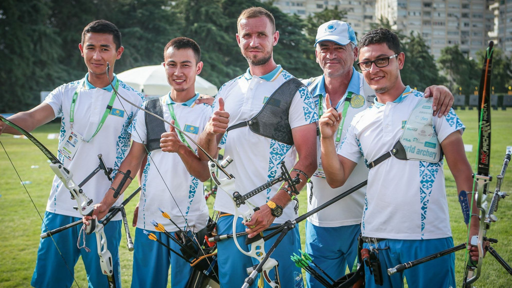 Kazakhstan and Italy recurve teams excel at Archery World Cup