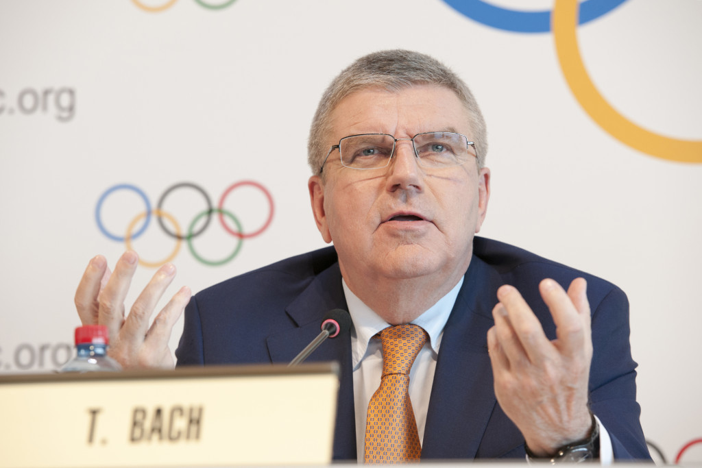 IOC President Thomas Bach chaired the meeting today ©Getty Images