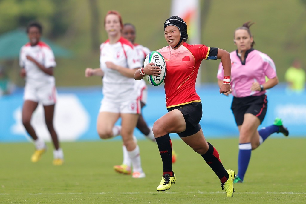 China won bronze in the girls' rugby sevens event at the Nanjing 2014 Youth Olympic Games ©Getty Images