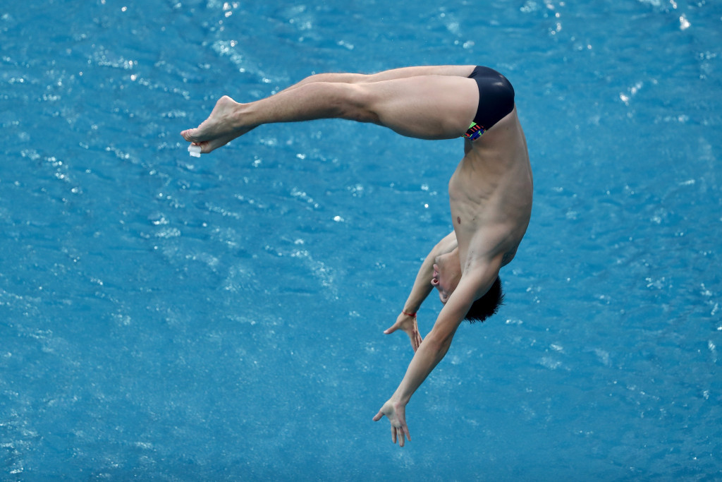 Illya Kvasha leads the Ukrainian hopes in the men's 1m springboard ©Getty Images