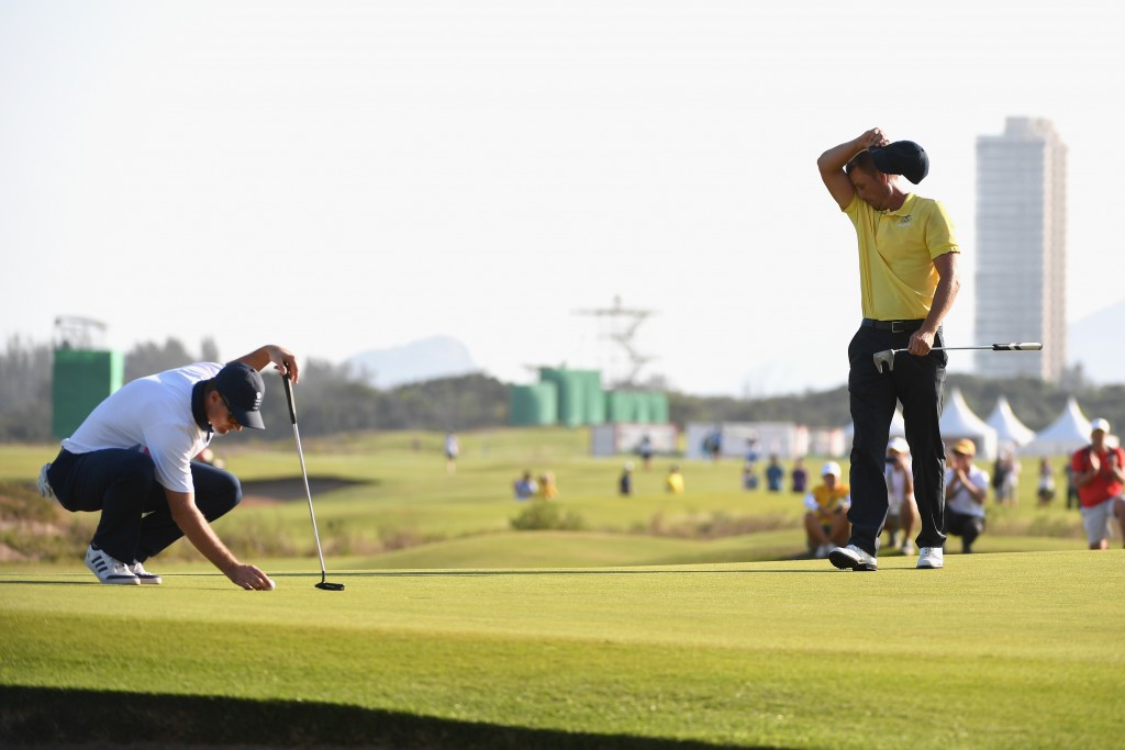 Justin Rose, left, and Henrik Stenson played out a thrilling battle at Rio 2016 ©Getty Images