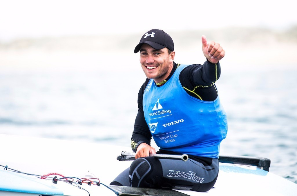 Ben Cornish won the men's finn title on the final day of the Sailing World Cup Final in Santander ©World Sailing