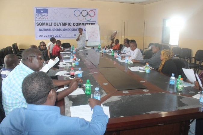 Somali National Olympic Committee hold workshop for national sports organisations