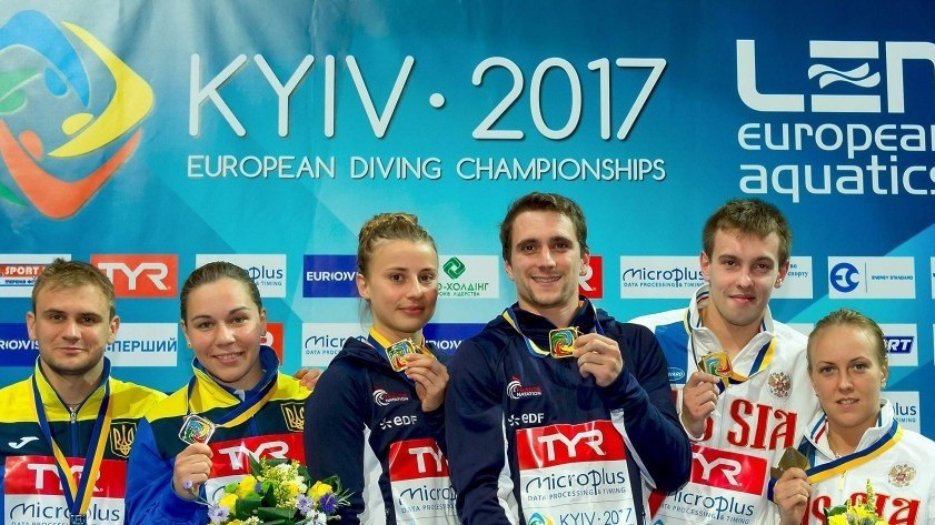 French duo claim first gold of 2017 European Diving Championships