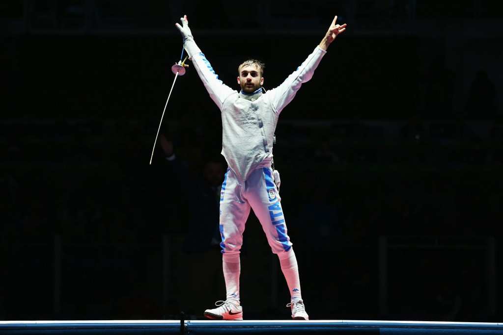 Daniele Garozzo took gold in the men's foil event ©Getty Images