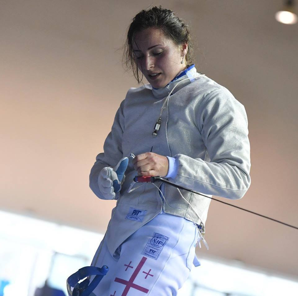 Teodora Kakhiani won the women's sabre gold medal today ©European Fencing/Facebook
