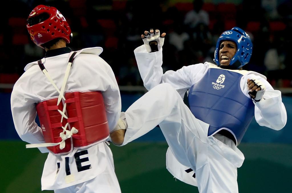 Chika Chukwumerije, right, won bronze at Beijing 2008 ©Getty Images