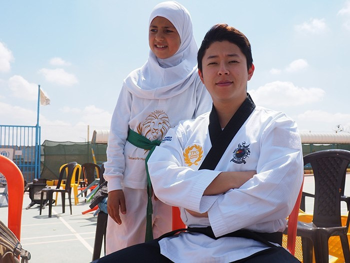 South Korea's Jae-Hyun Yoo is coaching at the refugee camp in Jordan ©ASBC