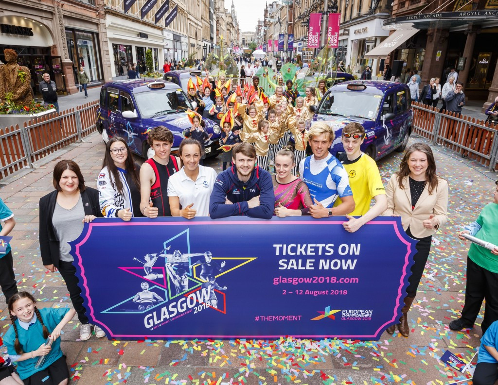 Glasgow 2018 tickets go on sale as swimmer Murdoch is named official ambassador