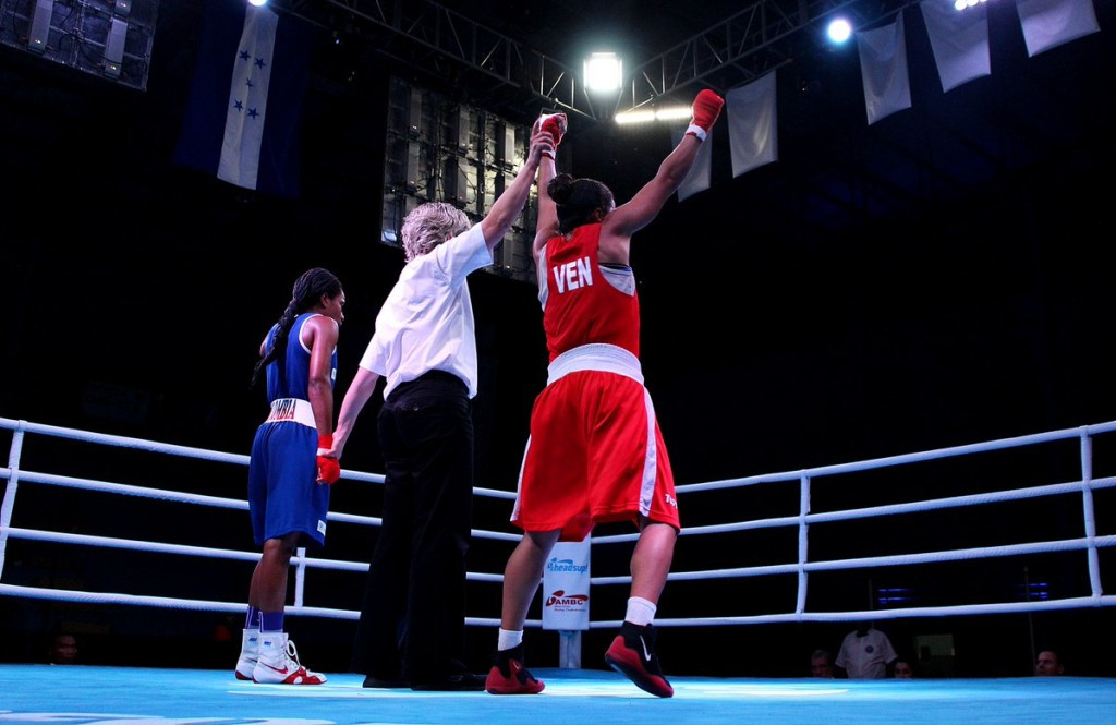 Women's semi-finals were the focus of attention in Honduras ©AIBA