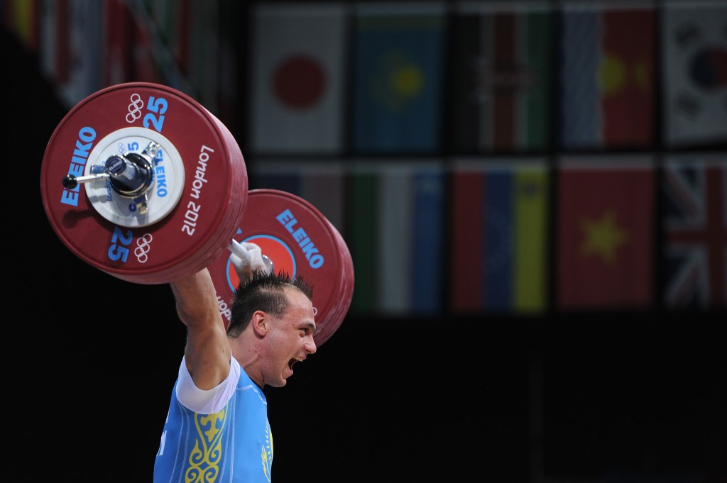 Kazakhstan's Ilya Ilyin is among 49 weightlifters to have been disqualified from Beijing 2008 and London 2012 after testing positive in retests, leading to him leading Olympic gold medals from both Games ©Getty Images