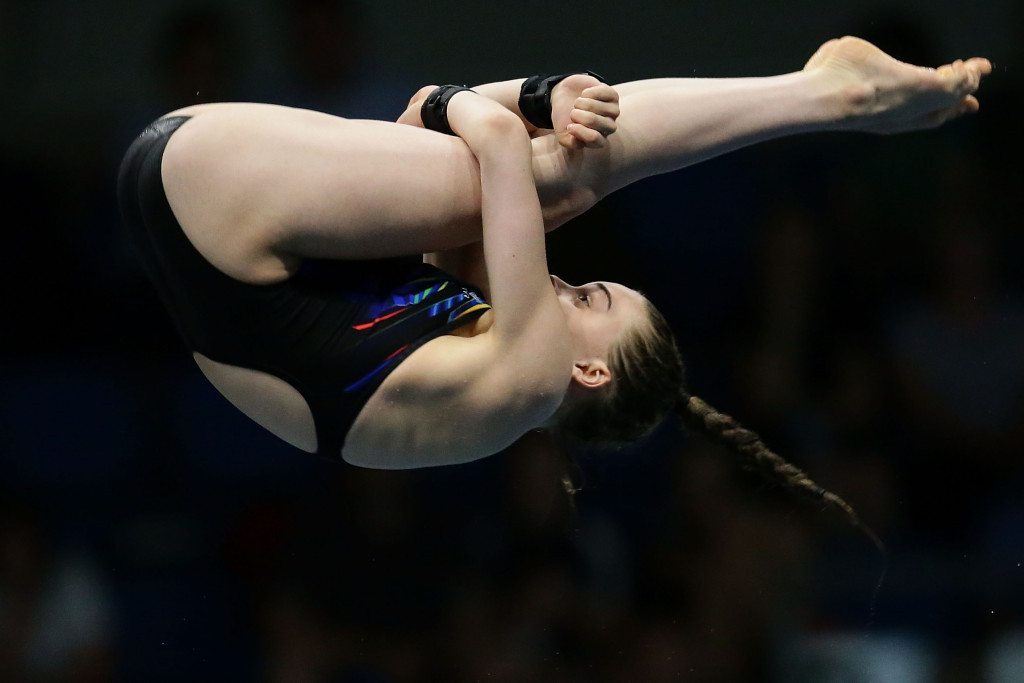 Great Britain's Ruby Bower partnered Phoebe Banks to victory in the women's 10m synchronised platform event ©Getty Images