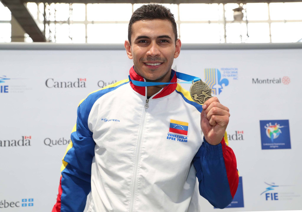 Venezuela's Ruben Limardo Gascon won gold in the men's individual épée event ©FIE/Facebook/Devin Manky