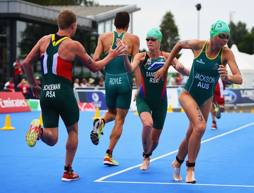 Mixed relays in triathlon was successful at the 2014 Commonwealth Games in Glasgow ©Getty Images