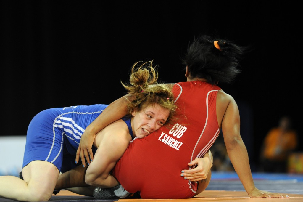 Argentine wrestler Luz Vazquez has been stripped of her bronze medal following her positive test ©AFP/Getty Images