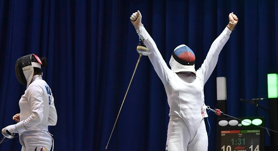 Russia's Kolobova strikes gold at European Fencing Championships