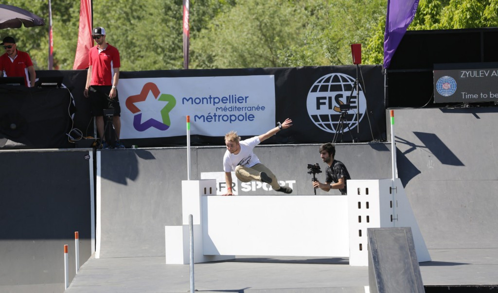 FIG recently held its inaugural Obstacle Course World Cup in Montpellier ©ArtFact/FIG